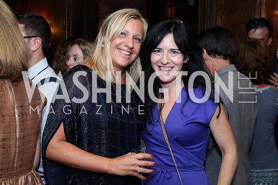 """Margherita Castelli, Nora Maccoby. Photo by Tony Powell. """"Snowden"""" Screening After Party. Chez Billy Sud. September 7, 2016"""