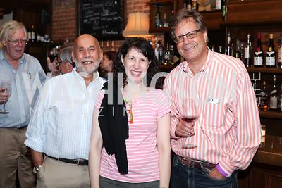 "Jonathan Broder, Elaine Grossman, Adam Zagorin. Photo by Tony Powell. ""Snowden"" Screening After Party. Chez Billy Sud. September 7, 2016"