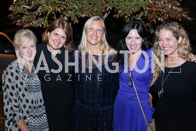 "Jennifer Tapper, Alexandra Chalupa, Margherita Castelli, Nora Maccoby, Nancy Reynolds Bagley. Photo by Tony Powell. ""Snowden"" Screening After Party. Chez Billy Sud. September 7, 2016"