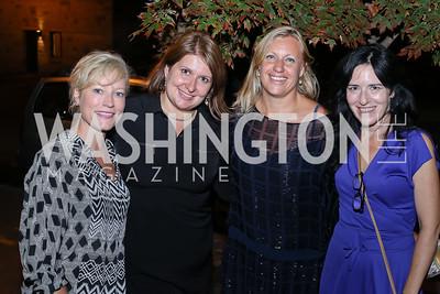 "Jennifer Tapper, Alexandra Chalupa, Margherita Castelli, Nora Maccoby. Photo by Tony Powell. ""Snowden"" Screening After Party. Chez Billy Sud. September 7, 2016"