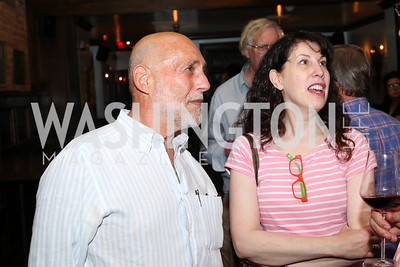 """Jonathan Broder, Elaine Grossman. Photo by Tony Powell. """"Snowden"""" Screening After Party. Chez Billy Sud. September 7, 2016"""