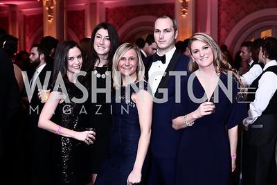 Kristina Murfin, Michelle Glaser, Laura Gaiser, Christopher David, Kara Tabb. Photo by Tony Powell. 2016 SOME Jr. Gala. Women's Museum. February 5, 2016