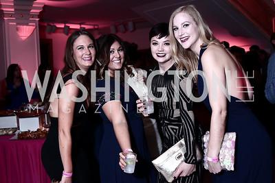 Jessie Edington, Sarah Robertson, Mary Lucas, Emily Gershon. Photo by Tony Powell. 2016 SOME Jr. Gala. Women's Museum. February 5, 2016