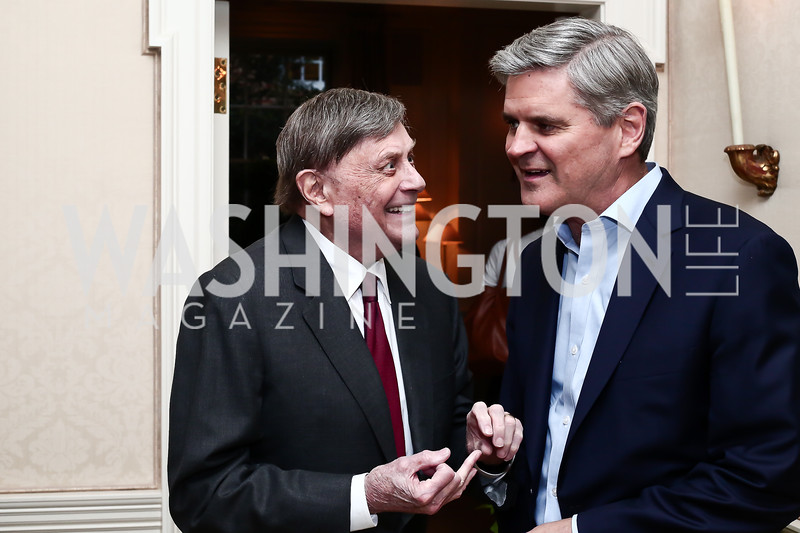 "Robert Kogod, Steve Case. Photo by Tony Powell. Steve Case ""The Third Wave"" Book Party. Bradley Residence. March 30, 2016"