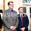 """Steve Clemons and Andrew Oros. Photo by Tony Powell. Steve Case """"The Third Wave"""" Book Party. Bradley Residence. March 30, 2016"""