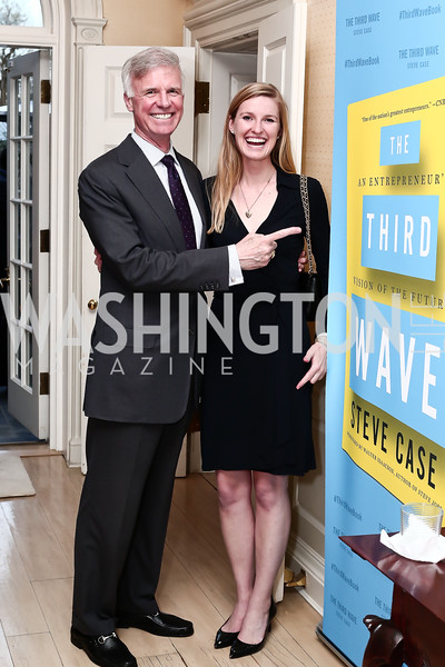 "Fred Ryan, Genevieve Ryan. Photo by Tony Powell. Steve Case ""The Third Wave"" Book Party. Bradley Residence. March 30, 2016"