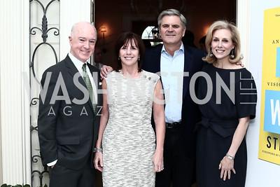 "David Bradley, Jean Case, Steve Case, Katherine Bradley. Photo by Tony Powell. Steve Case ""The Third Wave"" Book Party. Bradley Residence. March 30, 2016"