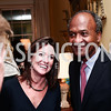 "Denise Grant, Frank Raines. Photo by Tony Powell. Steve Case ""The Third Wave"" Book Party. Bradley Residence. March 30, 2016"
