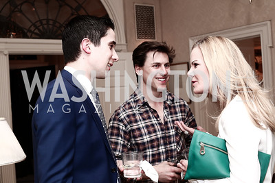 "Allen Gannett, Michael Haft, Susanna Quinn. Photo by Tony Powell. Steve Case ""The Third Wave"" Book Party. Bradley Residence. March 30, 2016"