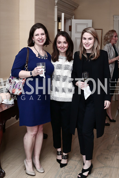 "Jennifer Nycz Conner, Meredith Balenske, Meredith Carden. Photo by Tony Powell. Steve Case ""The Third Wave"" Book Party. Bradley Residence. March 30, 2016"