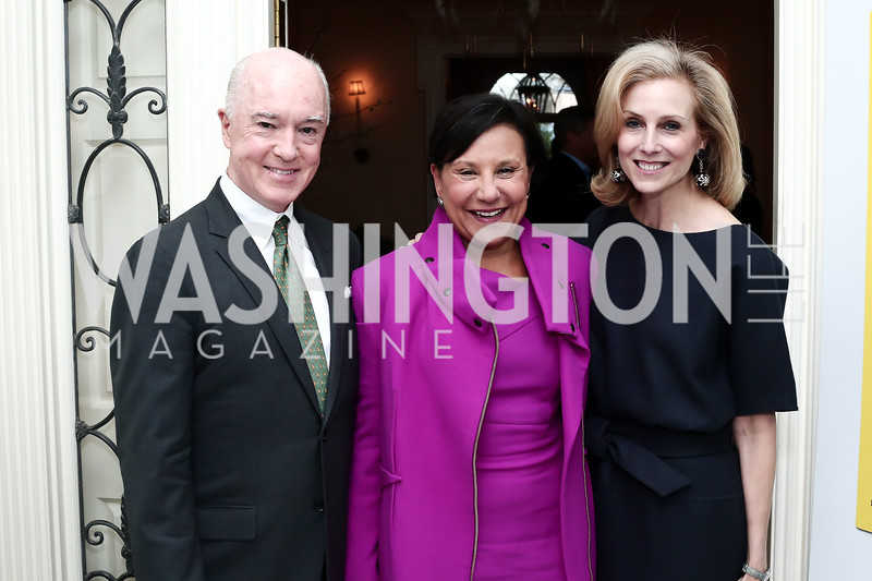 "David Bradley, Sec. Penny Pritzker, Katherine Bradley. Photo by Tony Powell. Steve Case ""The Third Wave"" Book Party. Bradley Residence. March 30, 2016"