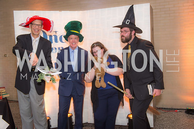 Bill Turner, George McCarthy, Michelle Bageant, Scott Harkless, Story Time Gala Reception at the DC Martin Luther King Public Library ,  March 16, 2016.  Photo by Ben Droz.