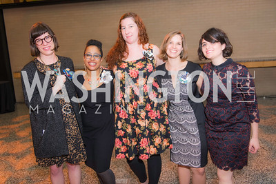 Emily Wagner, Maryann James-Daley, Esti Brennan, Melissa Varga, Anita Kinney,  Story Time Gala Reception at the DC Martin Luther King Public Library ,  March 16, 2016.  Photo by Ben Droz.