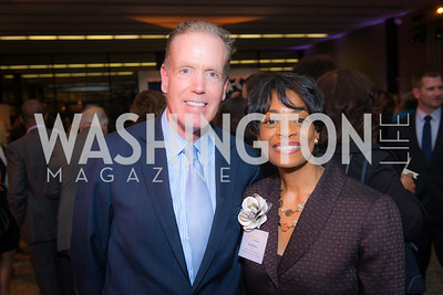 Gregory McCarthy, Joy Dorsey, Story Time Gala Reception at the DC Martin Luther King Public Library ,  March 16, 2016.  Photo by Ben Droz.