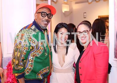 Shaka King, Becky Lee, Christine Brooks Cropper. Photo by Tony Powell. Superfierce. NMWA. October 19, 2016