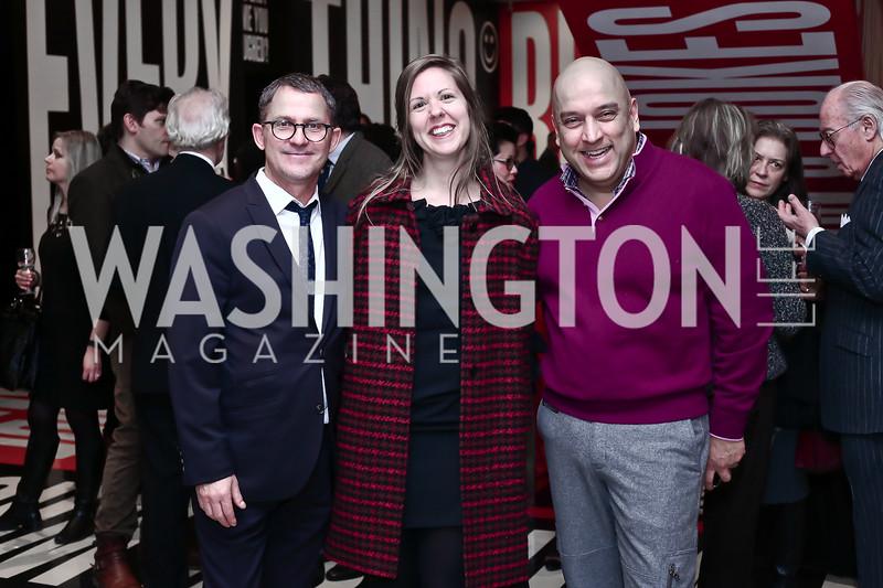"Stéphane Aquin, Marie Lamarre, Dadi Akhavan. Photo by Tony Powell. ""Suspended Animation"" Opening. Hirshhorn. February 10, 2016"