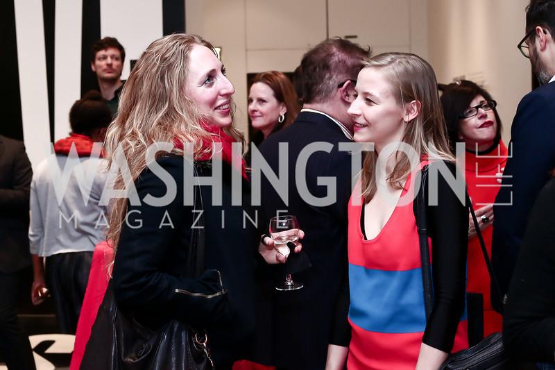 "Maggie Michael, Artist Agonieszka Polska. Photo by Tony Powell. ""Suspended Animation"" Opening. Hirshhorn. February 10, 2016"