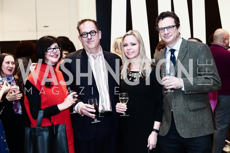 "Robin Zimelman, Larry Eisenstein, Lindsay Gabryszak, Tim Cone. Photo by Tony Powell. ""Suspended Animation"" Opening. Hirshhorn. February 10, 2016"