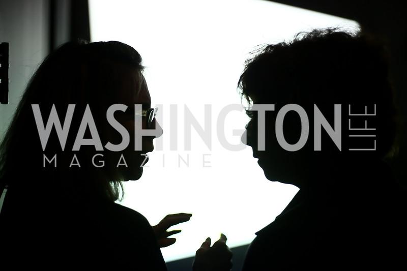 "Joan Oshinsky, Phyllis Hecht. Photo by Tony Powell. ""Suspended Animation"" Opening. Hirshhorn. February 10, 2016"