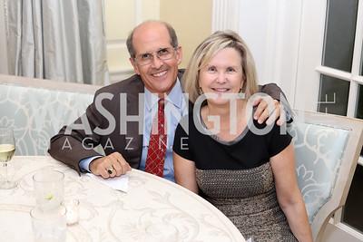 Gordon Dale, Connie Carter. Photo by Tony Powell. TFA Meet Our New Teachers. Bradley Residence. September 19, 2016