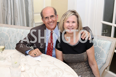 Gordon Dale, Connie Carter. Photo by Tony Powell. TFA Meet Our New Teachers. Bradley Residence. September 19, 2016
