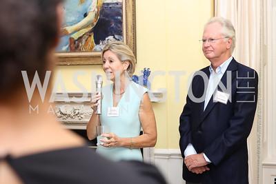 Christie Weiss, Tom Tinsley. Photo by Tony Powell. TFA Meet Our New Teachers. Bradley Residence. September 19, 2016