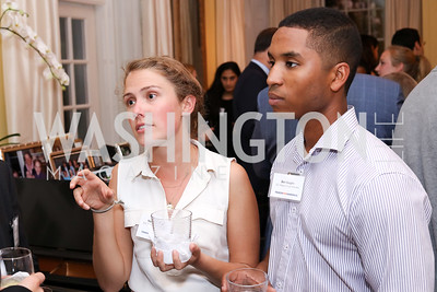 DC Region Corps Members Haley Herring and Ben Vaughn. Photo by Tony Powell. TFA Meet Our New Teachers. Bradley Residence. September 19, 2016