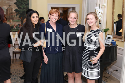 DC Region Corps Member Erum Siddiqui, Nancy Fletcher, Lindsay Jagla, Lauren Capra. Photo by Tony Powell. TFA Meet Our New Teachers. Bradley Residence. September 19, 2016