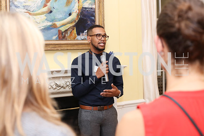 DC Region 2014 Alum Davian Morgan. Photo by Tony Powell. TFA Meet Our New Teachers. Bradley Residence. September 19, 2016