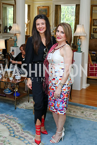 Aneta Spaic, Leila Beale. Photo by Tony Powell. Tea Honoring Women of the Diplomatic Corps. June 28, 2016