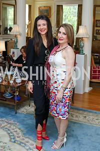 Aneta Spaic, Leila Beale. Photo by Tony Powell. Tea Honoring Women of the Diplomatic Corps. June 28, 2016