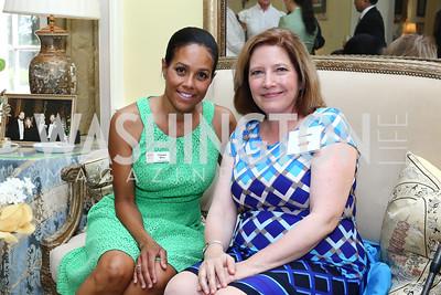 Chapter President Chartese Berry, Ambassador's Ball Co-Chair Jennifer Kildee. Photo by Tony Powell. Tea Honoring Women of the Diplomatic Corps. June 28, 2016
