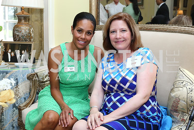 Chapter President Chartese Berry, Ambassador's Ball Co-Chair Jennifer Kildee. Photo by Tony Powell. Tea Honoring Women of the Diplomatic Corps. June 28, 2016