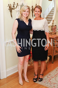 National MS Society's Katie Boothroyd, Board Member Joan Ohayon. Photo by Tony Powell. Tea Honoring Women of the Diplomatic Corps. June 28, 2016