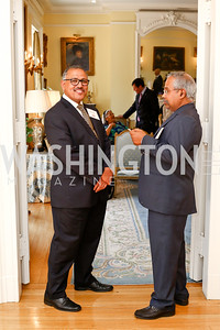 Nepal Amb. Arjun Kumar Karki, Siuaji Raja. Photo by Tony Powell. Tea Honoring Women of the Diplomatic Corps. June 28, 2016