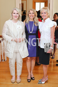 Jan Smith, Janet Pitt, Kathy Kemper. Photo by Tony Powell. Tea Honoring Women of the Diplomatic Corps. June 28, 2016