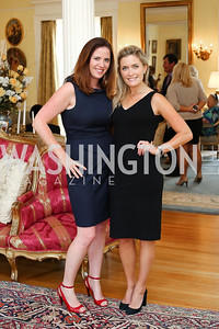 Sarah Lopez, Amanda Perry. Photo by Tony Powell. Tea Honoring Women of the Diplomatic Corps. June 28, 2016
