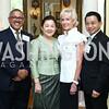 Nepal Amb. Arjun Kumar Karki, Soumaly Savayongs, Kathy Kemper, Laos Amb. Mai Savayongs. Photo by Tony Powell. Tea Honoring Women of the Diplomatic Corps. June 28, 2016