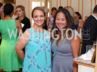 Julie Upham, Amy Anselmo. Photo by Tony Powell. Tea Honoring Women of the Diplomatic Corps. June 28, 2016
