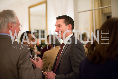 Justin Bakewell. Photo by Erin Schaff. Teach for America 2017 Gala Preview. Home of Christine Rales. December 08, 2016.