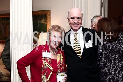 Diana Spencer, David Bradley. Photo by Tony Powell. TFA Holiday Party. Carl Residence. December 9, 2015