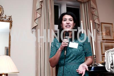 Adele Fabrikant. Photo by Tony Powell. TFA Holiday Party. Carl Residence. December 9, 2015