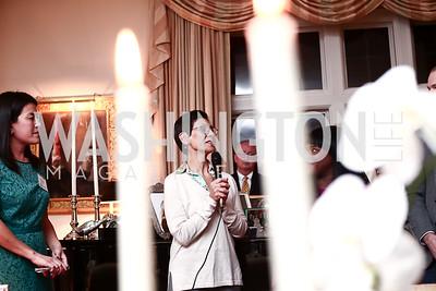 Dora Currea. Photo by Tony Powell. TFA Holiday Party. Carl Residence. December 9, 2015