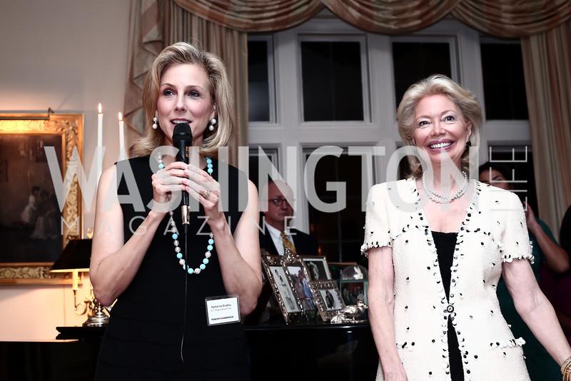 Katherine Bradley, Joan Carl. Photo by Tony Powell. TFA Holiday Party. Carl Residence. December 9, 2015