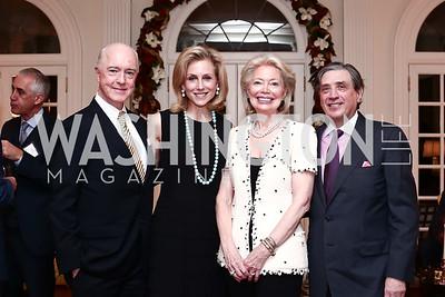 David and Katherine Bradley, Joan and Bernie Carl. Photo by Tony Powell. TFA Holiday Party. Carl Residence. December 9, 2015