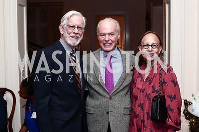 Richard Miller, Don Larsen, Rosalia Miller. Photo by Tony Powell. TFA Holiday Party. Carl Residence. December 9, 2015
