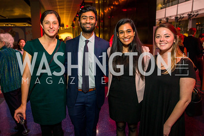 Kathryn Chiasson, Aalok Dave, Lekha Ragavendran, Meade Stone. Photo by Alfredo Flores. The Annenberg Space for Photography's Refugee Opening Reception. Newseum. November 17, 2016