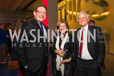 Jeff Herbst, Cinny Kennard, Shelby Coffey III. Photo by Alfredo Flores. The Annenberg Space for Photography's Refugee Opening Reception. Newseum. November 17, 2016