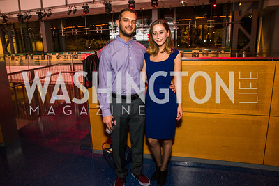 Evan Scarlatelli, Monica Pastores. Photo by Alfredo Flores. The Annenberg Space for Photography's Refugee Opening Reception. Newseum. November 17, 2016