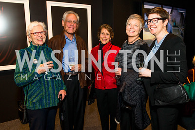 Ann Satterthwaite, Alan Friedman, Royce Friedman, Susan LaBombard, Karen Hermann. Photo by Alfredo Flores. The Annenberg Space for Photography's Refugee Opening Reception. Newseum. November 17, 2016